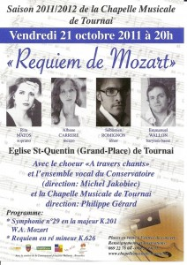 Requiem de Mozart-Tournai octobre 2011