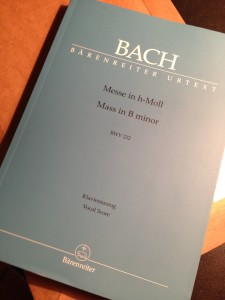Partition de la messe en si de Bach